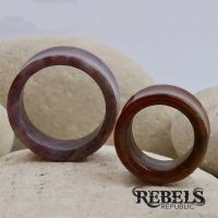 Carnelian Red Agate Stone Tunnels