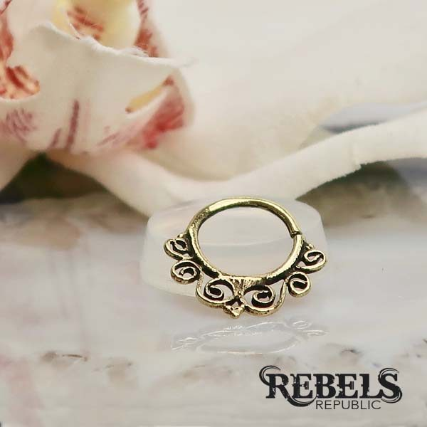 Swirls Septum Ring