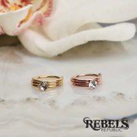 Golden Trio Nose Ring