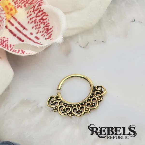 Hearts Septum Ring