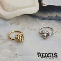 Opal Heart Septum Ring