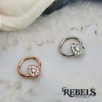 Opal Avice Septum Ring