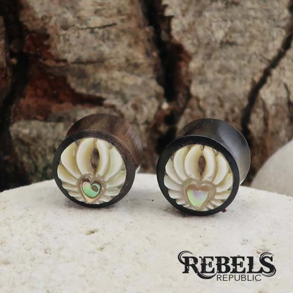 Angels Heart Wood Plugs