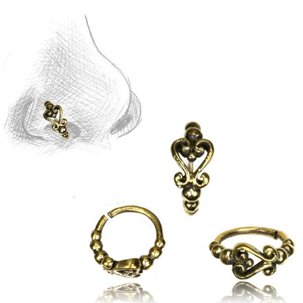 Scrolls Nose Ring