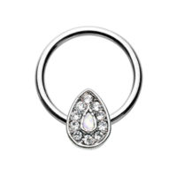 Opal Avice Captive Bead Ring