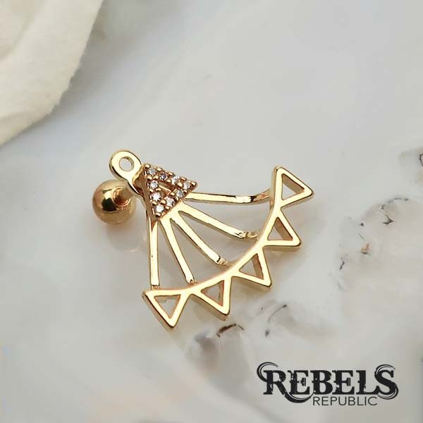Barbella Gold Earrings
