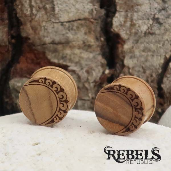 Indian Moon Wood Plugs