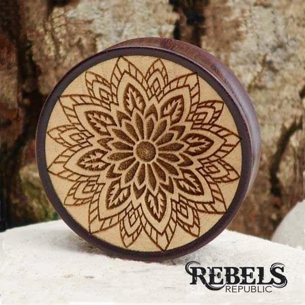 Mandala Madness Wood Plugs