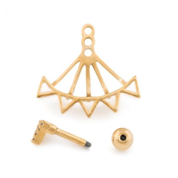 Barbella Gold Earring