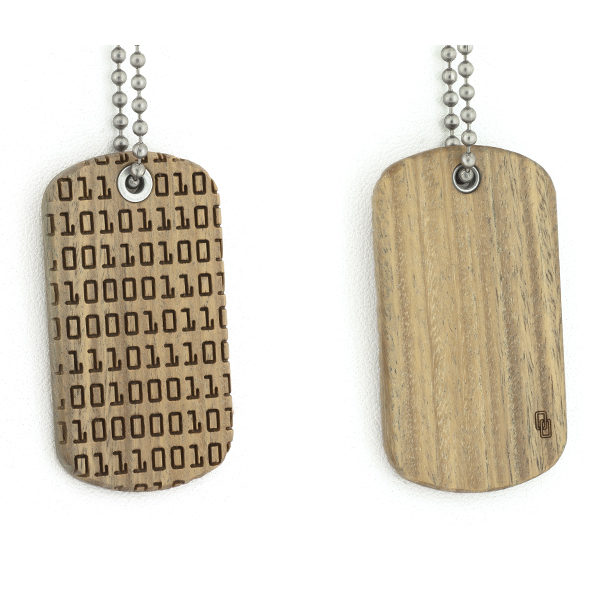 Binary Code Dog Tag - pre order