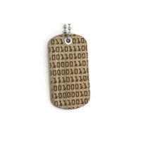 Binary Code Dog tag