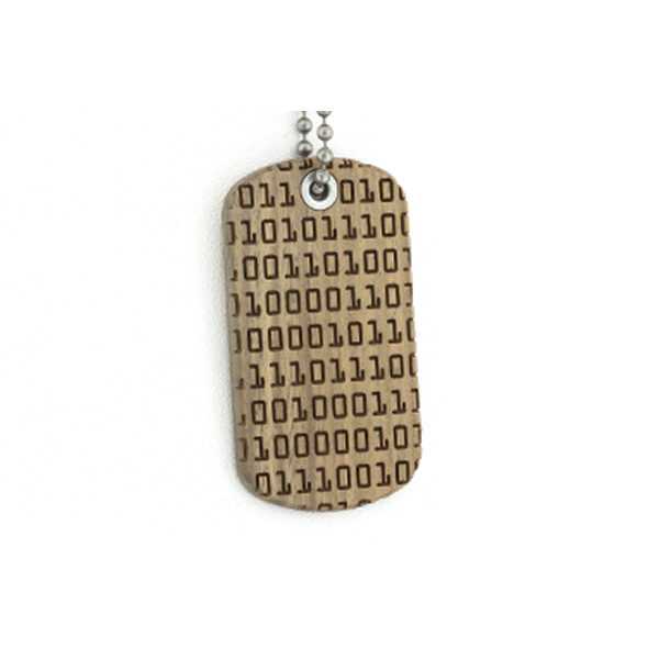Binary Code Dog tag