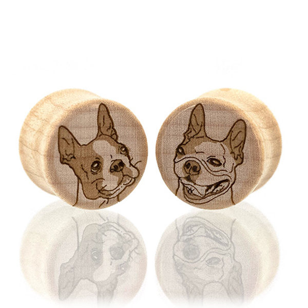 Boston Terrier Custom Plugs