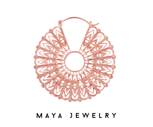 Cloak Earrings - Rose Gold