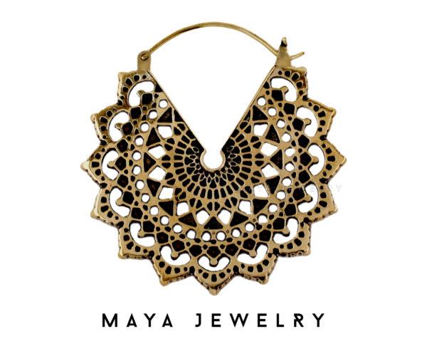 Majesty Black Earrings - Brass