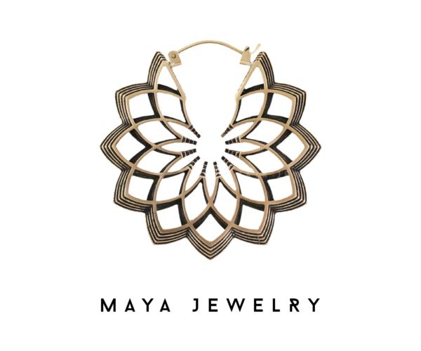 Merkato Earrings - Brass