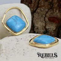 Turquoise Stone Ear Weights