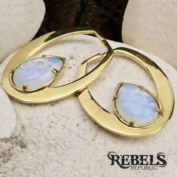 Opalite Stone Ear Weights