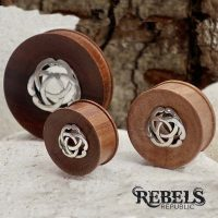 Celtic Saba Wood Plugs