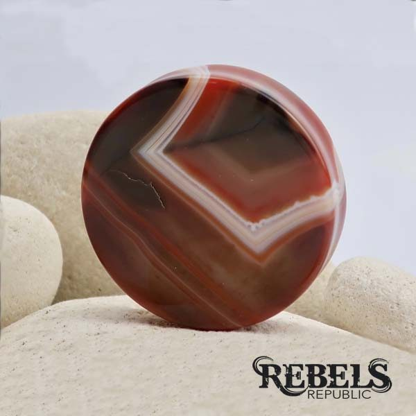 Red Agate Stone Plugs