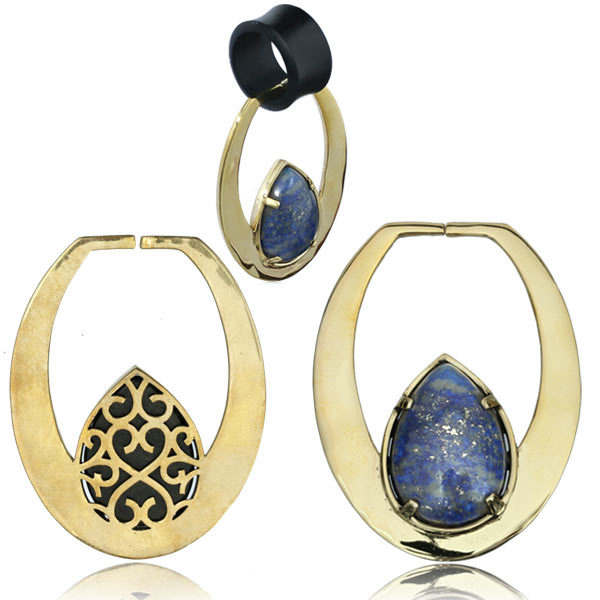 Lapis Stone Ear Weights