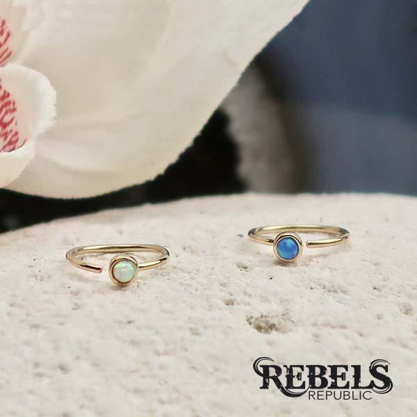 Golden Opal Nose Ring