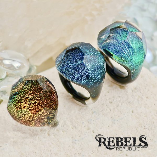 Dichroic Bling Rings