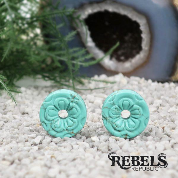 Turquoise Flower Eyelets