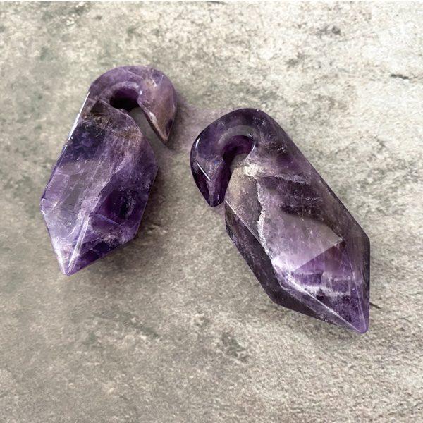 Amethyst Prism Ear Weights