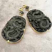 Serpent Obsidian Ear Weights