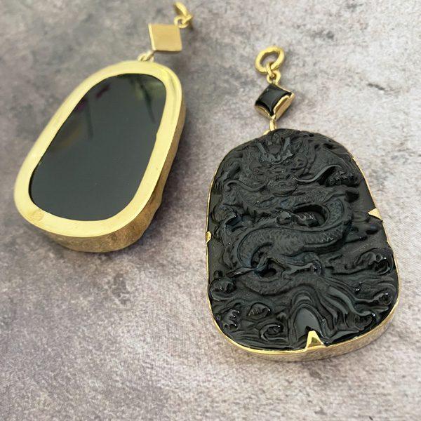 Dragon Obsidian Ear Weights