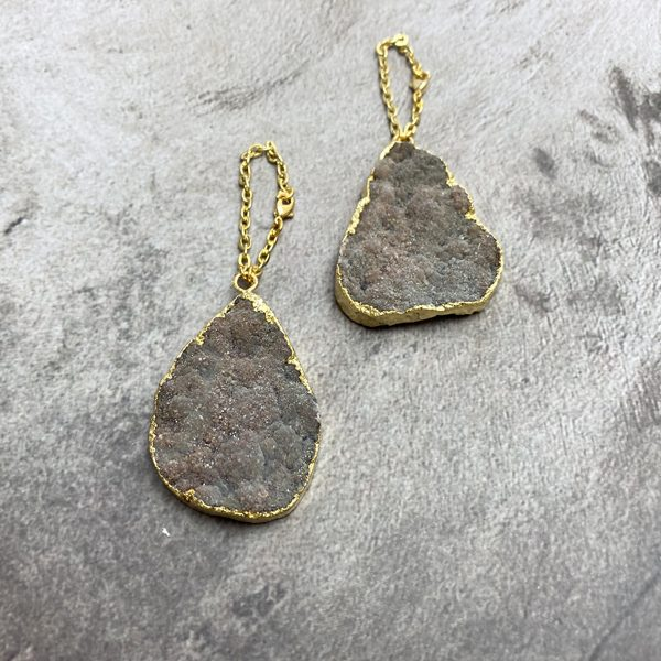 Druzy Stone Ear Weights