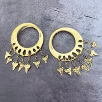 Lotus Shark Teeth Ear Weights